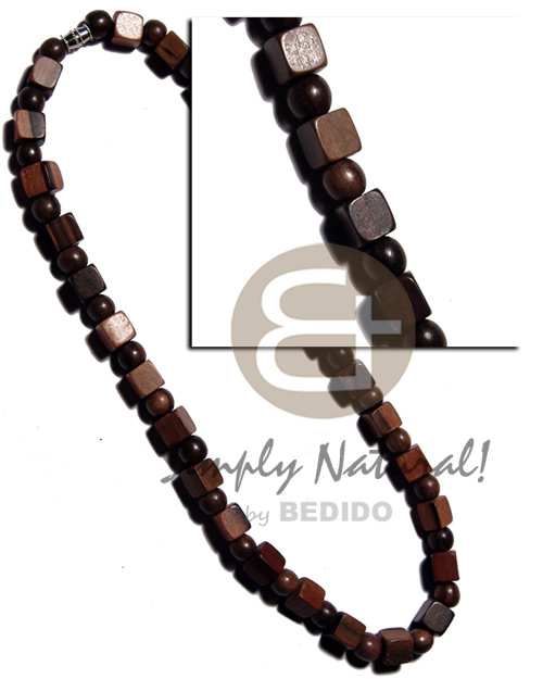 hand made Round camagong tiger wood beads Mens Necklace