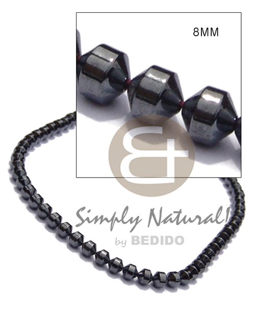 Hematite silvery shiny Mens Necklace