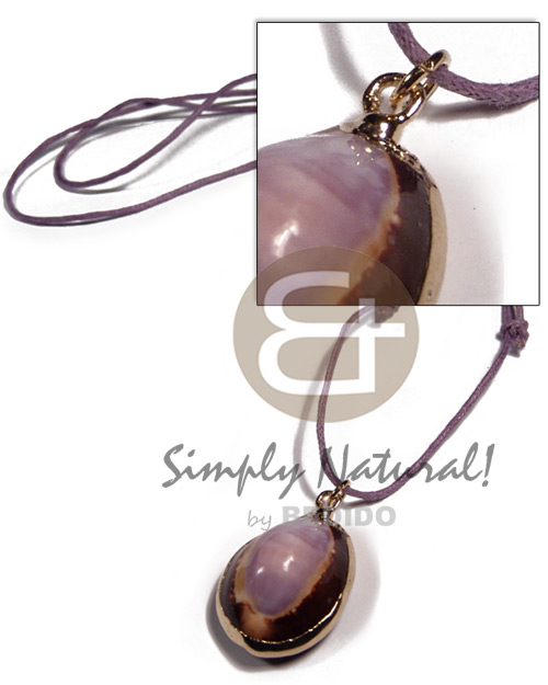 Caput shell in lavender Mens Necklace
