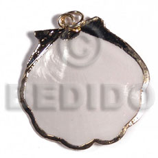 Amosiom shell approx. 35mm Molten Metal Pendants