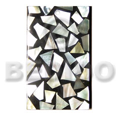 Flat rectangle 50mmx30mm laminated mop Mosaic Pendants