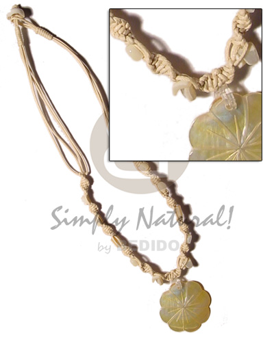 4 layer knotted wax cord Multi Row Necklace