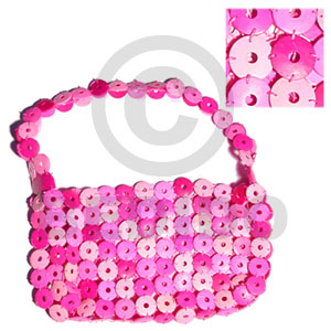 Pink coco rings lining Native Bags