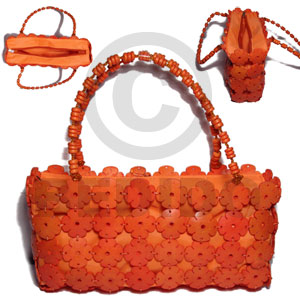 hand made Orange coco flowers inner Native Bags