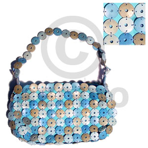 Blue and natural coco rings Native Bags