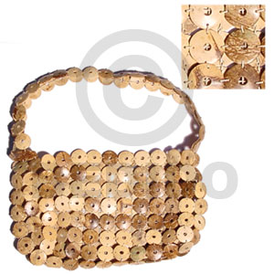 hand made Natural coco rings lining Native Bags