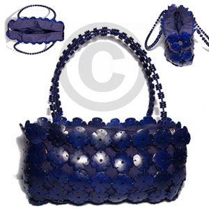 Navy blue coco flowers Native Bags