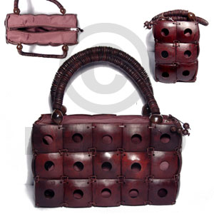 Reddish brown square coco Native Bags