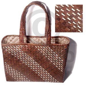 Brown banig beach bag Native Bags