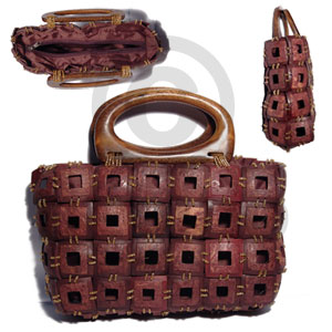 Brown weaved square coco Native Bags