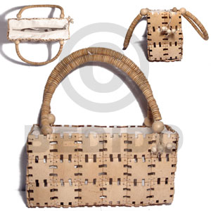 Natural white jigsaw coco Native Bags