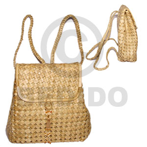 Pandan eyelet packbag medium 10x4x11 Native Bags