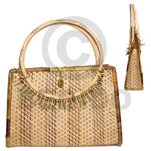 Nito with bamboo with lining Native Bags