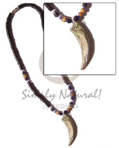4-5mm black coco heishe Natural Earth Color Necklace