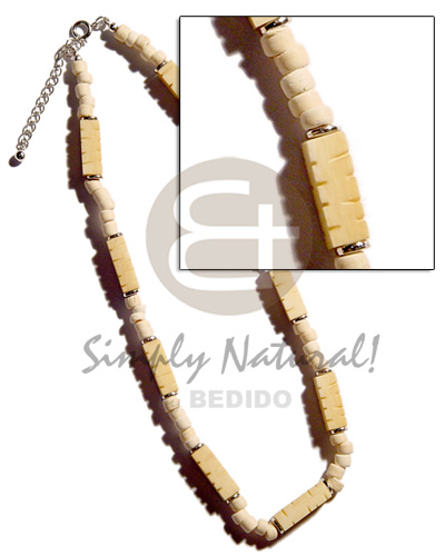 hand made Bone groove combinationned Natural Earth Color Necklace
