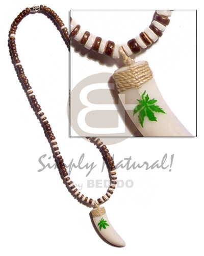 4-5mm coco pokalet. natural brown Natural Earth Color Necklace
