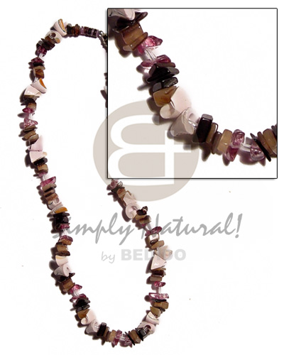 Brownlip chunks everlasting luhuanus combination Natural Earth Color Necklace