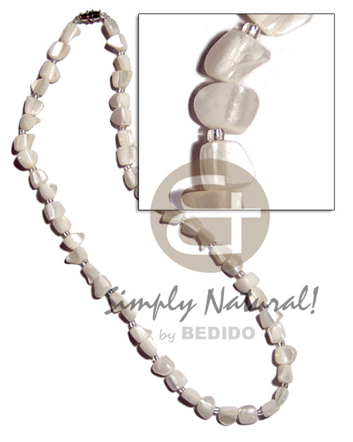 Troca nuggets Natural Earth Color Necklace