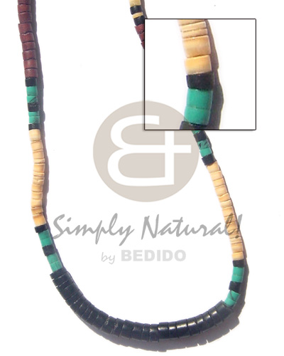4-5mm melo shell Natural Earth Color Necklace
