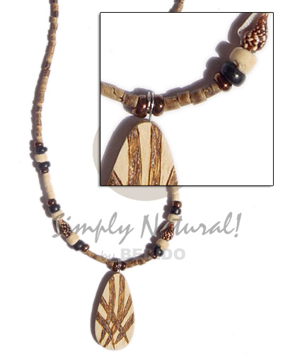 2-3 heishe tiger Natural Earth Color Necklace