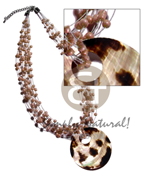 10 layers glass beads in Natural Earth Color Necklace