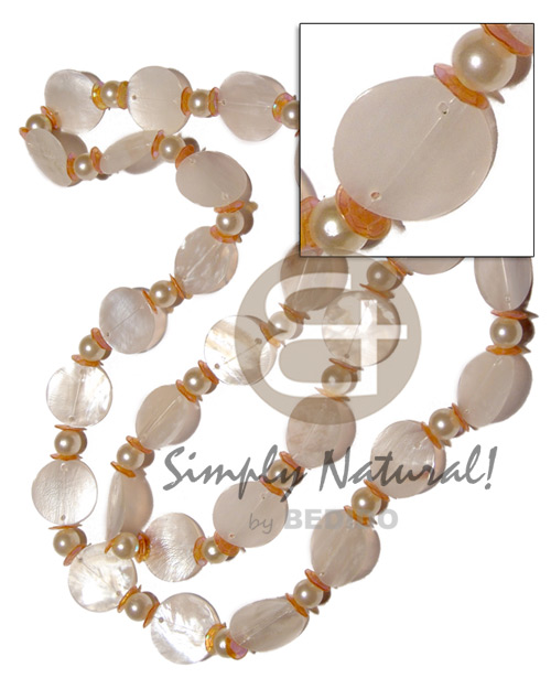 27 pcs. single row 25mm Natural Earth Color Necklace