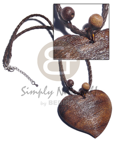 2 braided leather textured Natural Earth Color Necklace