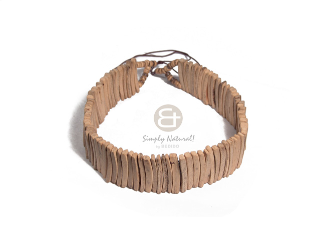 3in coco natural white Natural Earth Color Necklace