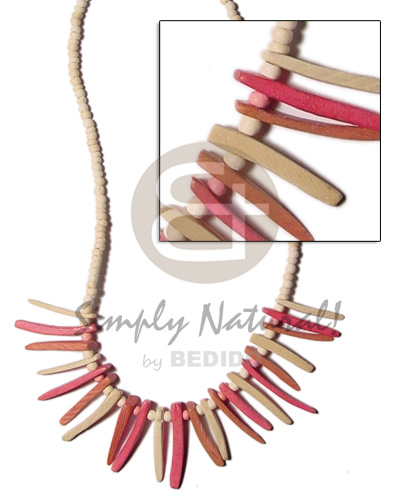 2-3 coco pokalet bleach Natural Earth Color Necklace