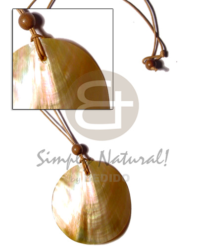Cord 50mm polished round Natural Earth Color Necklace