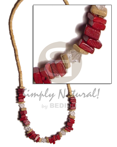 2-3 coco heishe nat Natural Earth Color Necklace