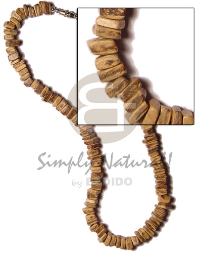 hand made Coco tiger square cut Natural Earth Color Necklace
