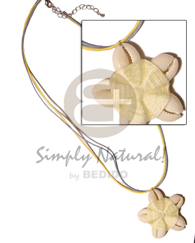 hand made Flower sigay center cloth Natural Earth Color Necklace