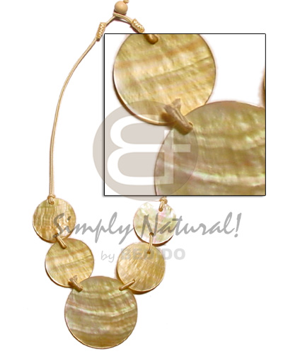 5 round 50mm Natural Earth Color Necklace