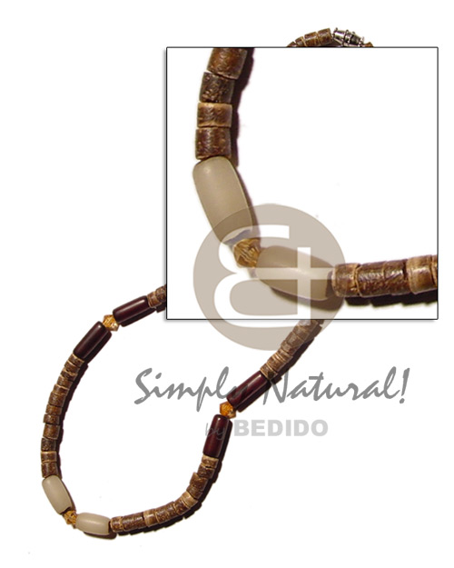 4-5 coco natural brown hesihe Natural Earth Color Necklace