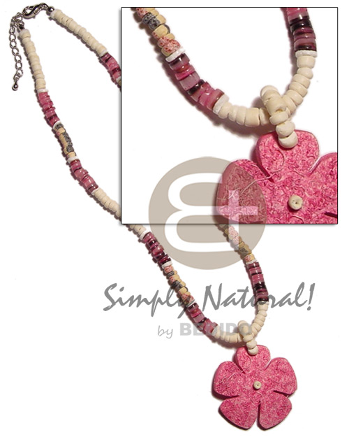 4-5mm coco pokalet. splashing Natural Earth Color Necklace