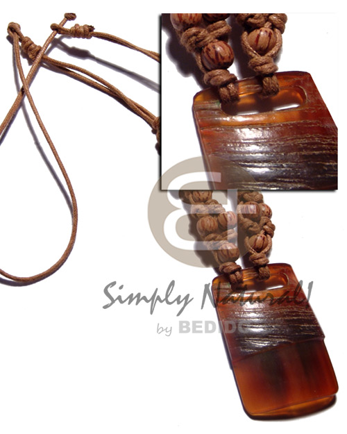 40mmx50mm carabao amber horn pendant Necklace with Pendant