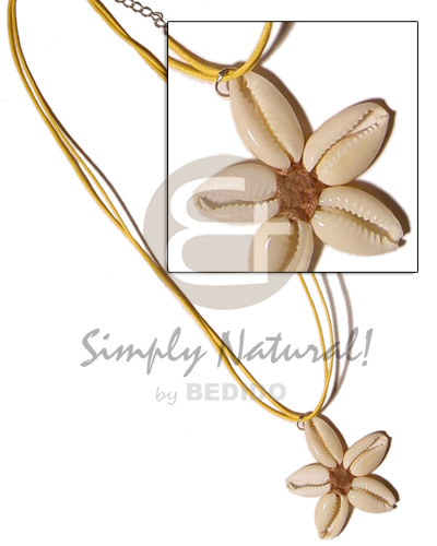 Flower sigay center cloth Necklace with Pendant