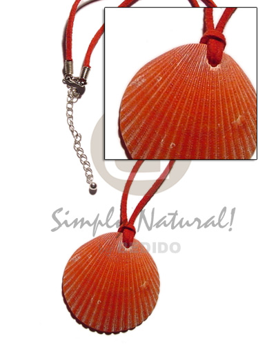 hand made Red leather thong palium Necklace with Pendant