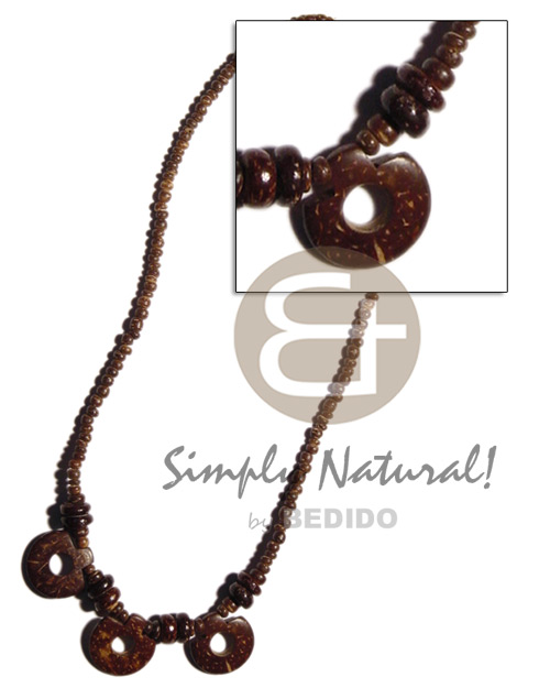 2-3mm coco pokalet coco Necklace with Pendant