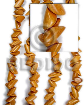 bayong  pointed nuggets 10mmx20mm - Nuggets Wood Beads