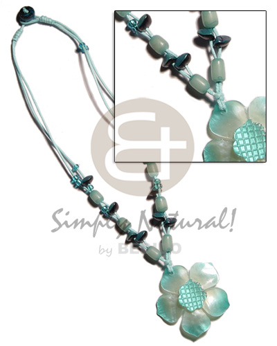 2 layer knotted aqua blue Pastel Color Necklace