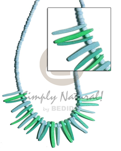 Powder blue 2-3 coco pokalet Pastel Color Necklace