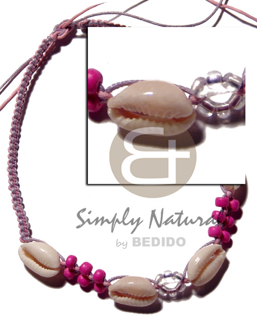 Sigay on macrame wax cord Pastel Color Necklace