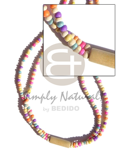 2 rows candy colored Pastel Color Necklace