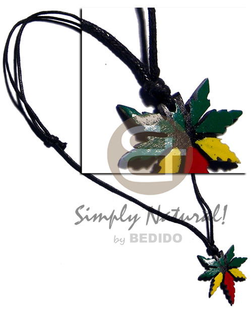 35mm coco rasta mj pendant Rasta Necklace