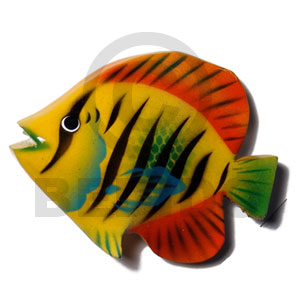 Fish handpainted wood refrigerator Refrigerator Magnets