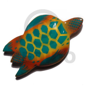 hand made Sea turtle handpainted wood refrigerator Refrigerator Magnets
