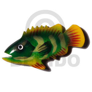 Fish handpainted wood refrigerator magnet Refrigerator Magnets