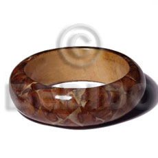 Wood bangle laminated Resin Bangles